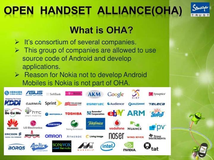 Open  handset  alliance(oha)
