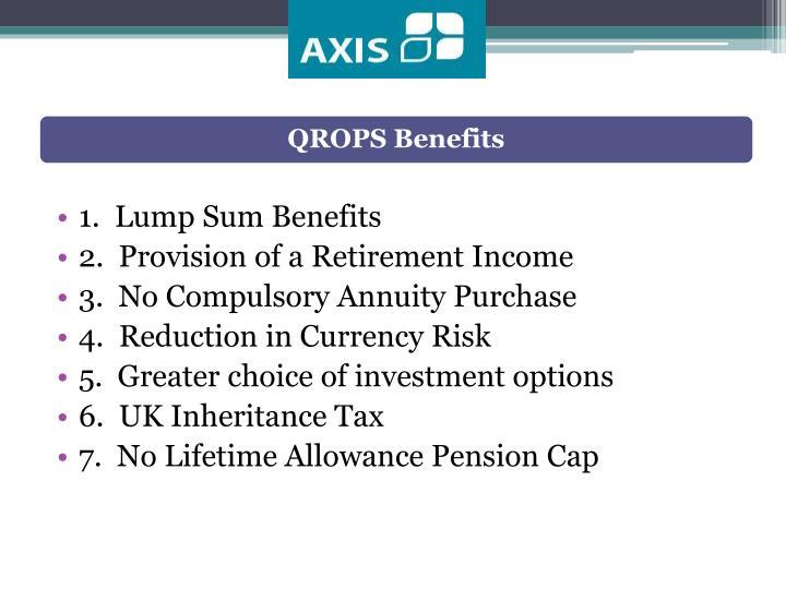 QROPS Benefits