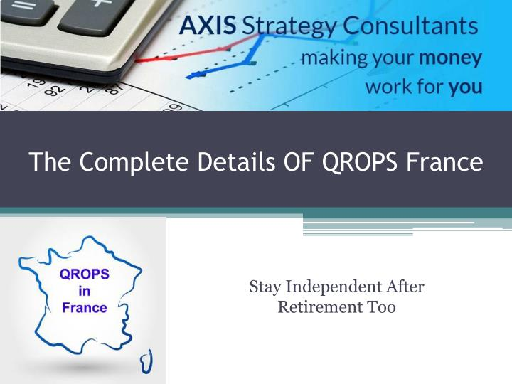 The complete details of qrops france