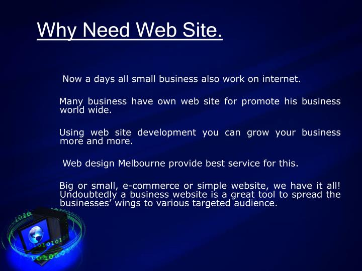 Why need web site