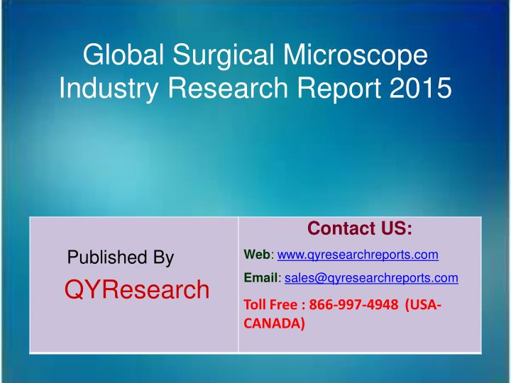 Global Surgical Microscope