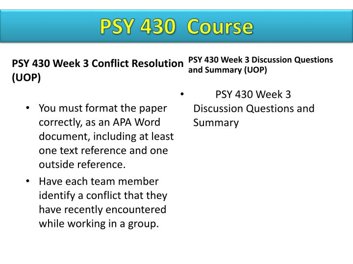 psy430 theory at work paper Week 7 research paper feminist therapy psy460 (4 pages | 2019 words) by prof | apr 14, 2015 | psy 460 research paper: feminist therapy and domestic violence psy 460 abstract within our society violence against women is a part of everyday life.