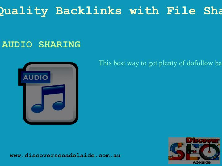 Get Quality Backlinks with File Sharing