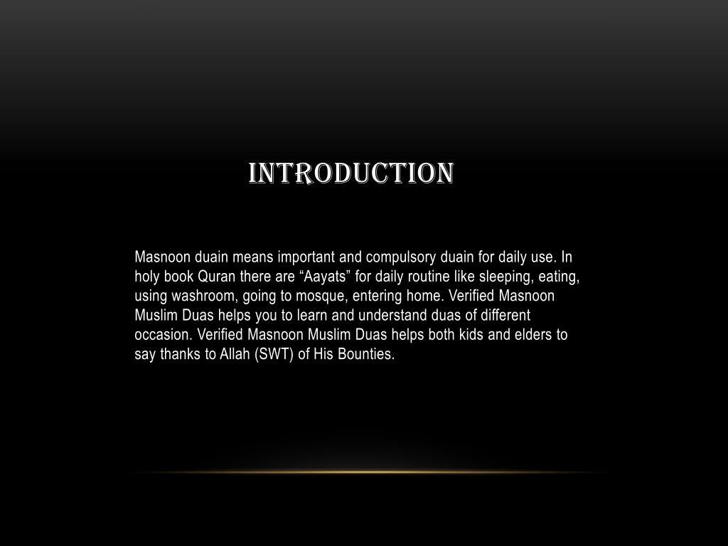 PPT - Verified Masnoon Muslim Duas PowerPoint Presentation - ID:7196139