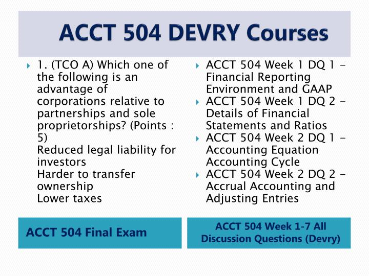 acct 504 entire course Acct 504 week 7 course project $ 1300 add to cart  acct 504 entire course + final exam  acct 504 acct 505 acct 505 (updated) bis.