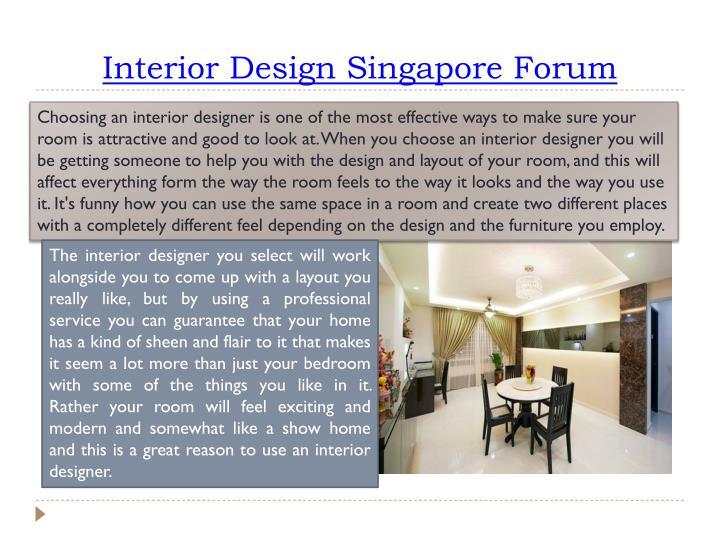 Interior design singapore forum