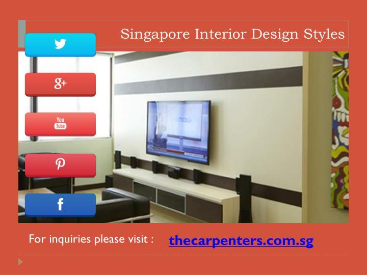 Singapore Interior Design Styles