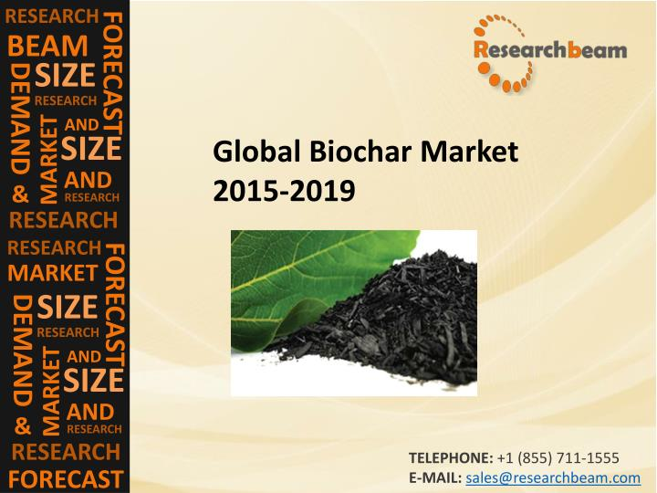 global biochar market The global biochar market is expected to increase from usd 1,0315 million in 2016, to usd 2,6074 million in 2023, at a cagr of 1418% from 2017 to 2023 by energias market research.