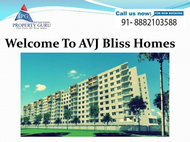 Welcome To AVJ Bliss Homes