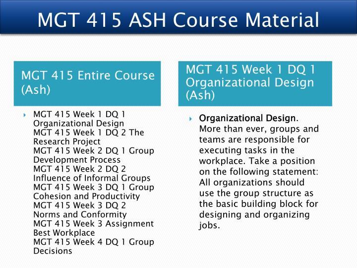 group week 3