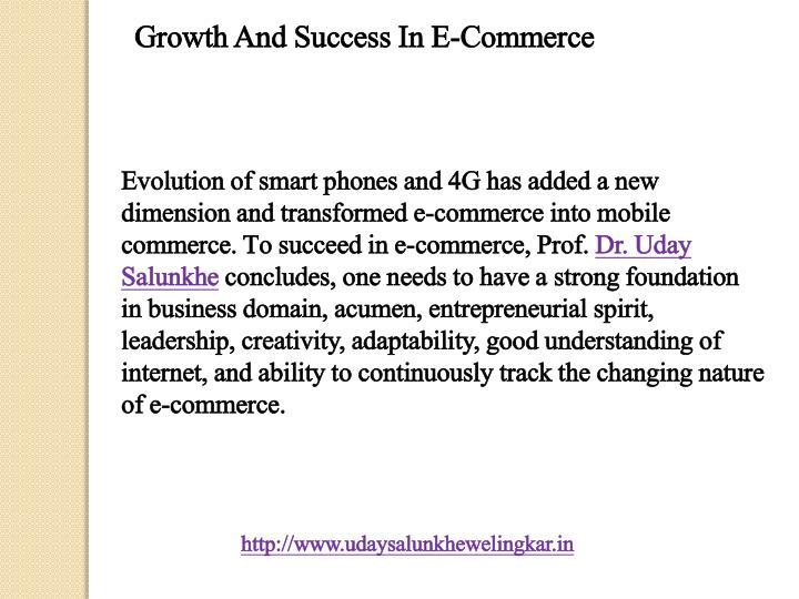 Growth And Success In E-Commerce
