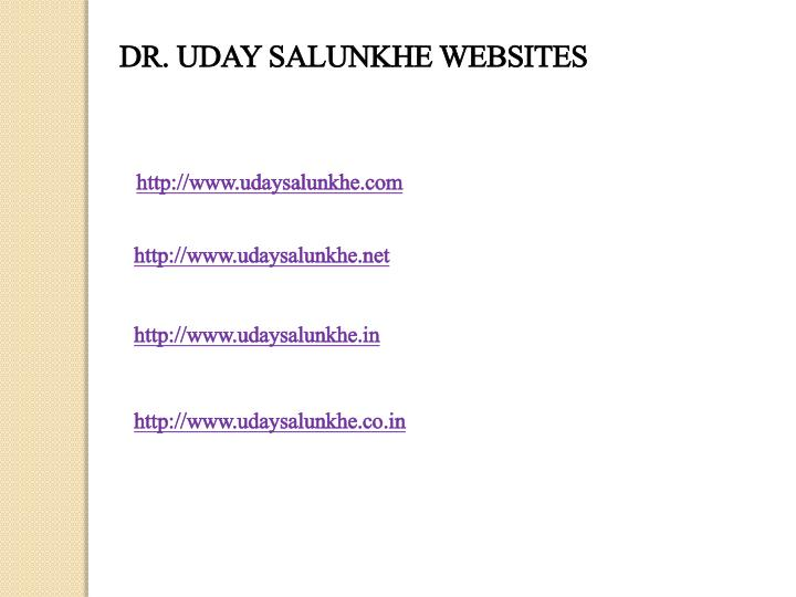 DR. UDAY SALUNKHE WEBSITES