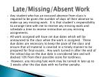 late missing absent work