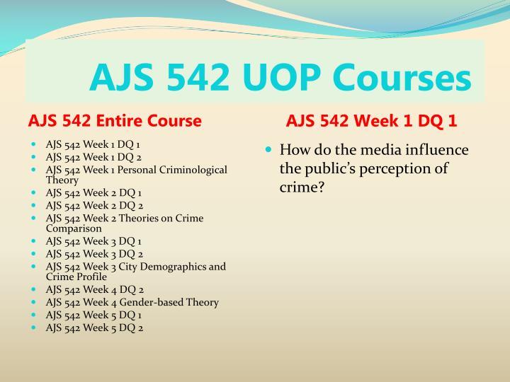 Ajs 542 uop courses1