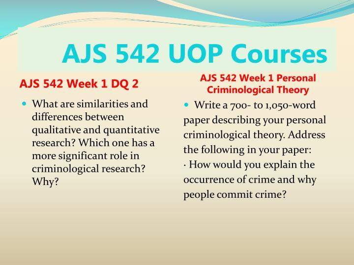 Ajs 542 uop courses2