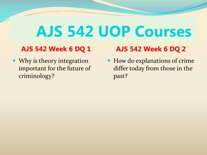 AJS 542 UOP