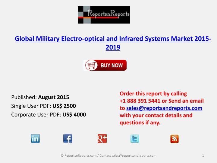 Global military electro optical and infrared systems market 2015 2019