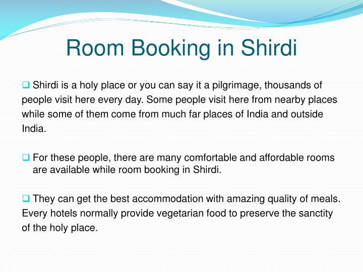 Room Booking in