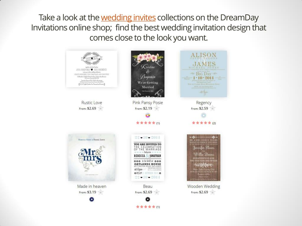 Ppt Customising Your Wedding Invitations And Theme Dreamday