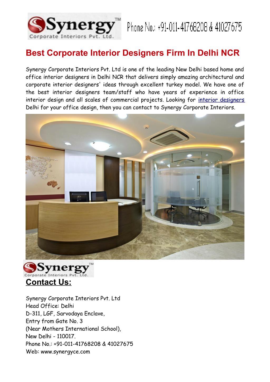Ppt Best Corporate Office Interior Designers In Delhi Ncr Powerpoint Presentation Id 7197507