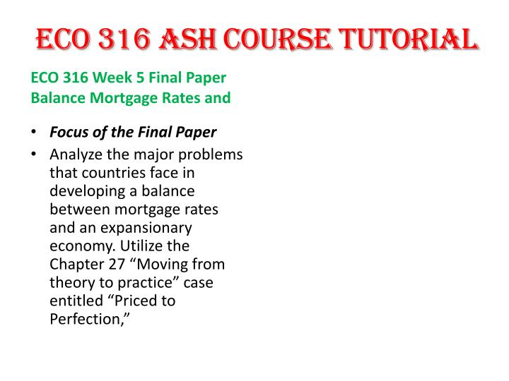 eco 316 week 4 chapter 20 Ashford eco 316 week 4 dq 1 structure and function of finance information: info@homeworktutororg dmca report takedown@homeworktutororg support center.