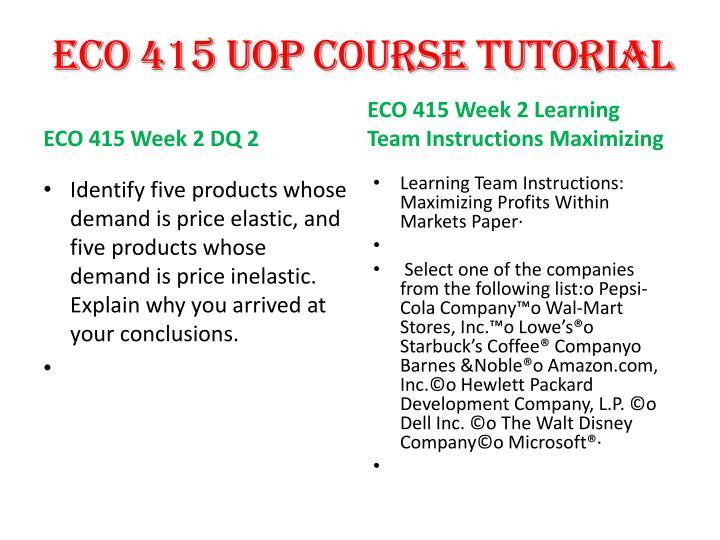 Eco 415 UOP