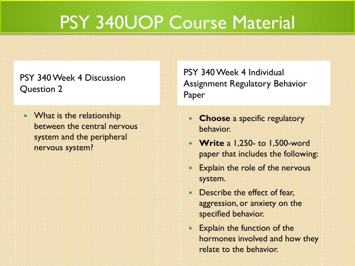 340regulatory behavior paper