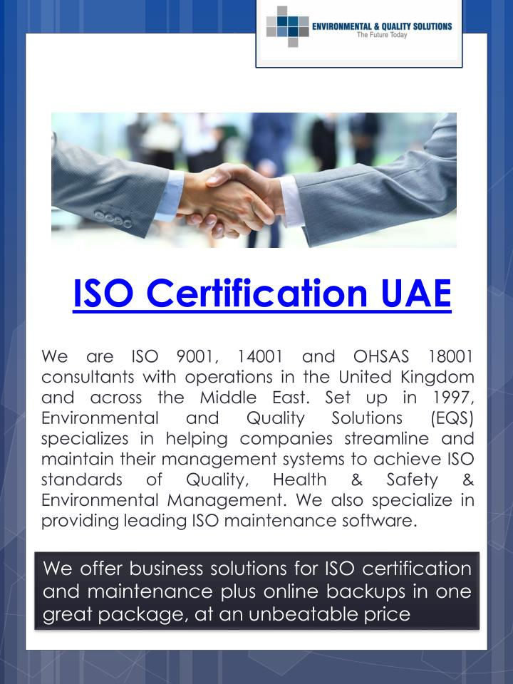 iso certification uae n.