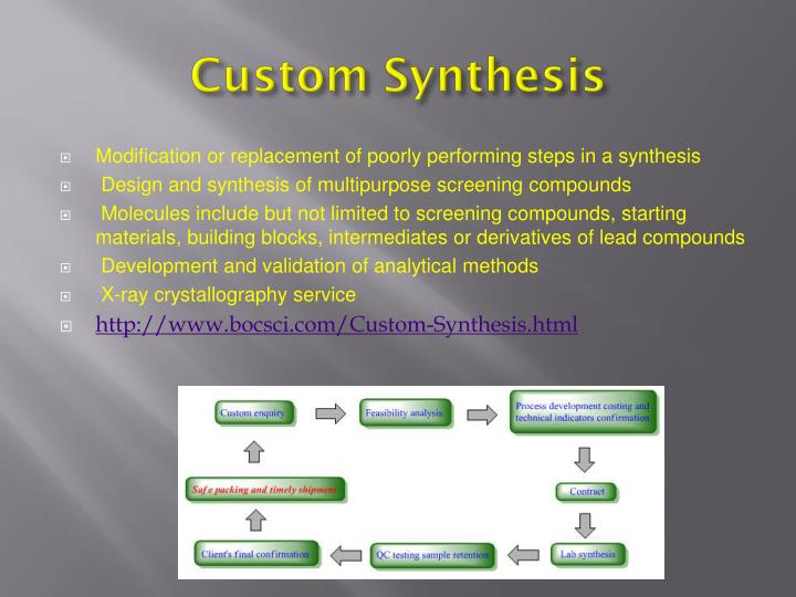 Custom synthesis1