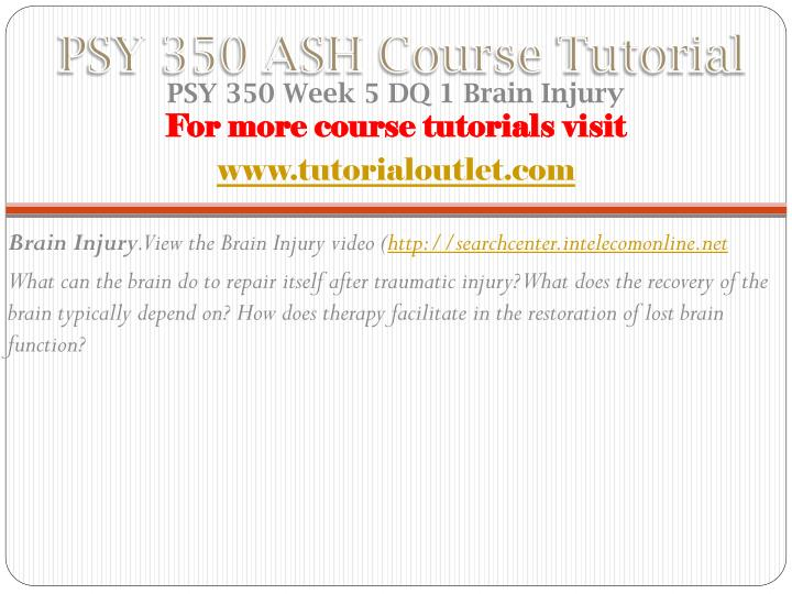 PSY 350 ASH Course
