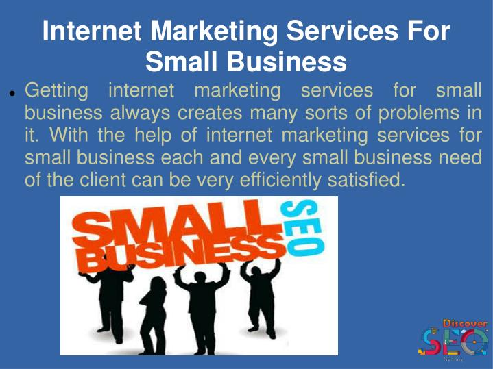 Internet marketing services for small business1