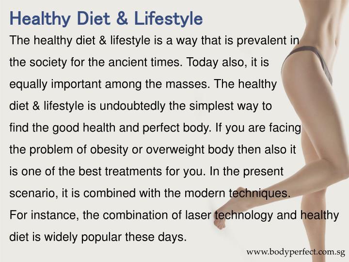 Healthy Diet & Lifestyle