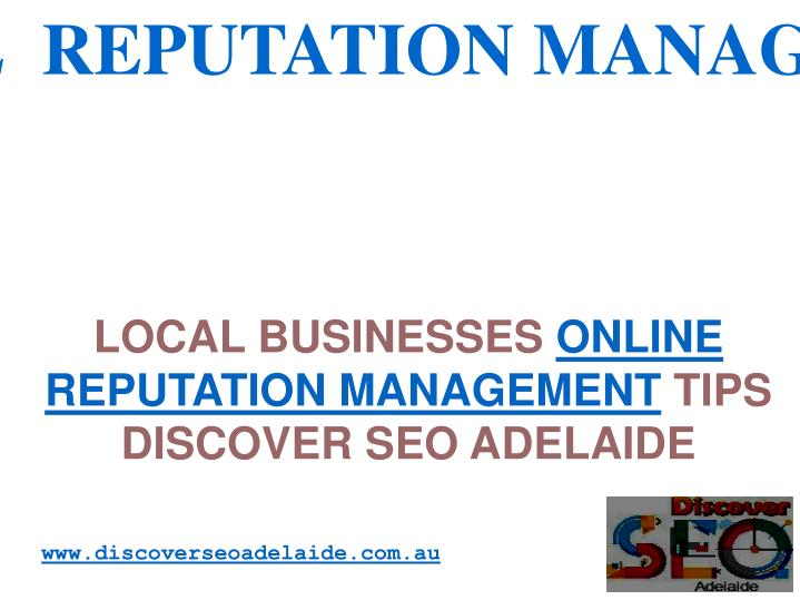 local businesses online reputation management tips discover seo adelaide n.