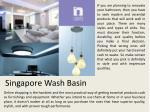 singapore wash basin