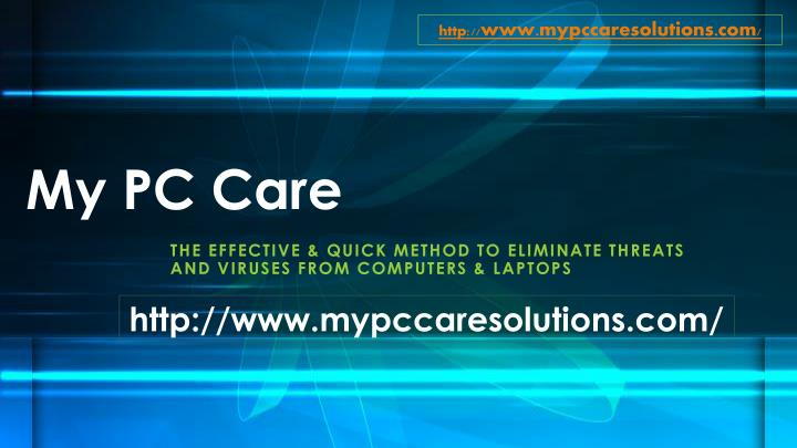 my pc care n.