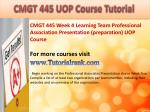 bus 630 ash course tutorial13