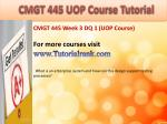 bus 630 ash course tutorial7