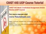 bus 630 ash course tutorial9