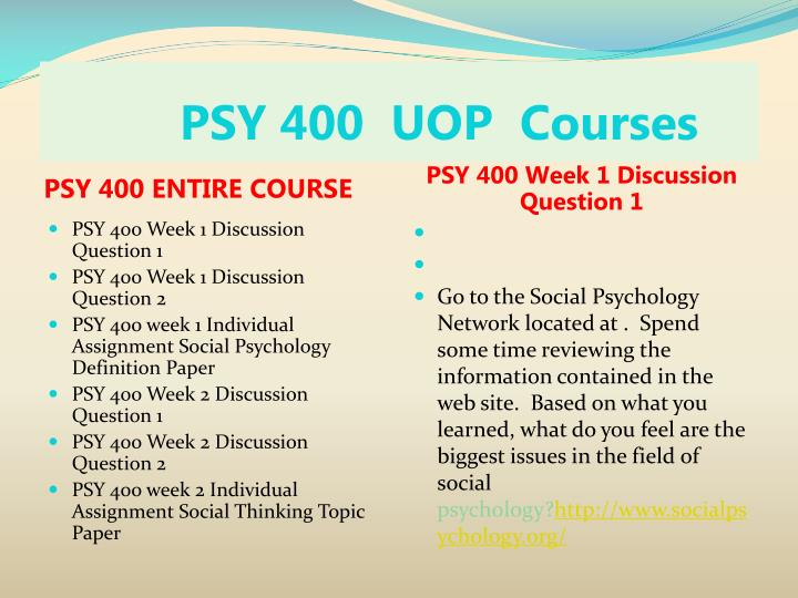 Psy 400 uop courses1