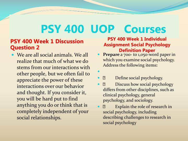 Psy 400 uop courses2