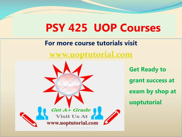 psy 425 uop courses n.