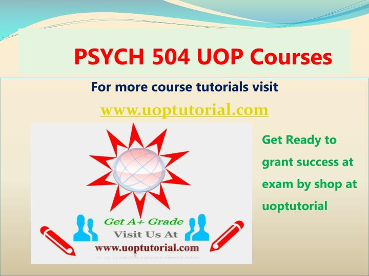 psych 504 uop courses n.