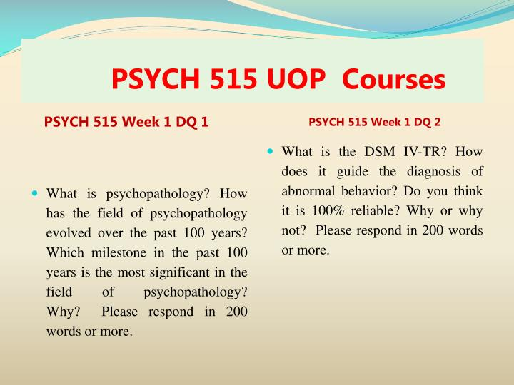 Psych 515 uop courses1