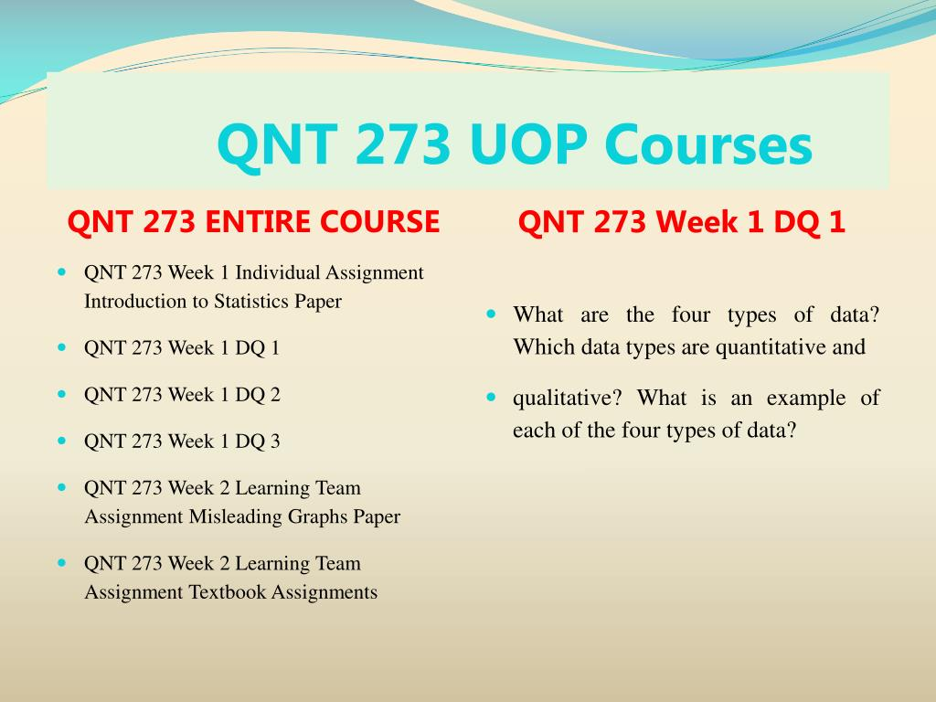 PPT - QNT 273 UOP Tutorial Course/ Uoptutorial PowerPoint