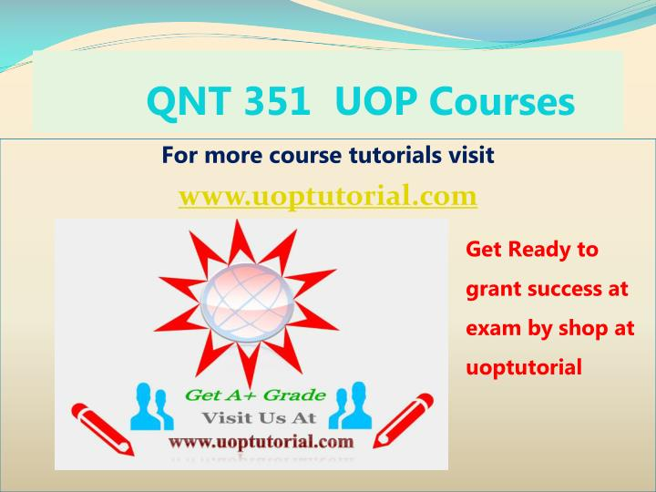 qnt 351 uop courses n.