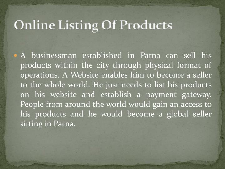 Online Listing