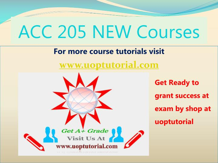 acc 205 new courses n.