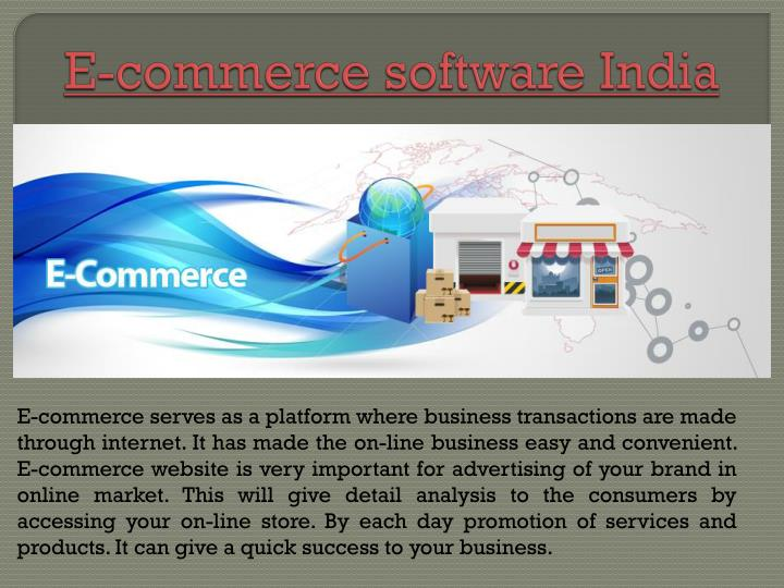 e commerce software india n.