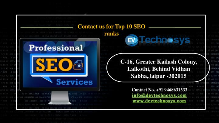 Contact us for Top 10 SEO ranks
