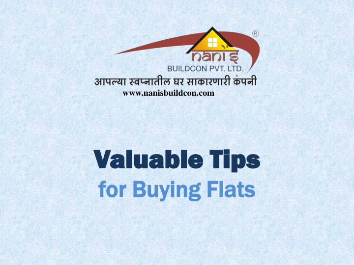 valuable tips for buying flats n.